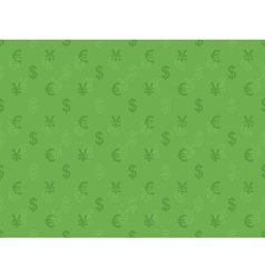 pattern with currency signs vector image