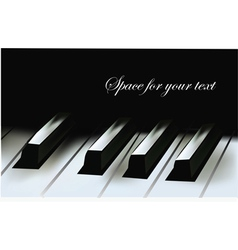 realistic piano keys vector image