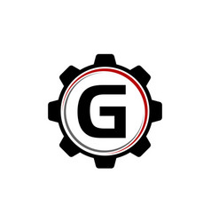 gear solution logo letter g vector image vector image