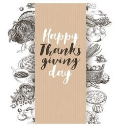 hand drawn thanksgiving vector image