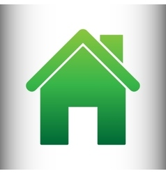 Home silhouette Green gradient icon vector image