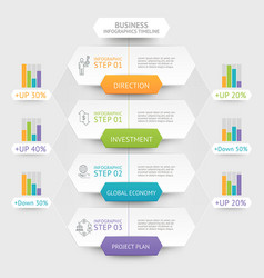 business hexagon infographics template vector image vector image