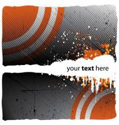 grunge orange design vector image