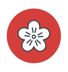 japan flower sakura icon isolated on white vector image vector image