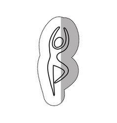 silhouette person dancing icon vector image