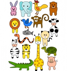 animal doodles vector image vector image