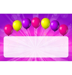 card with shiny balloons vector image