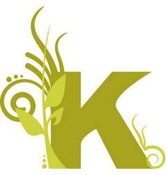 nature k vector image vector image