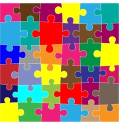Red puzzle background vector image vector image