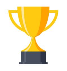trophy cup icon vector image vector image