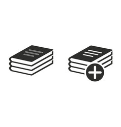 Add book icon vector