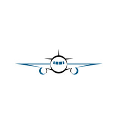 airplane front logo icon symbol vector image