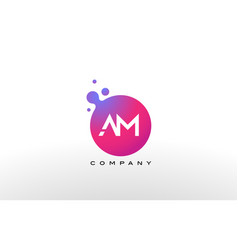 Am letter dots logo design with creative trendy vector