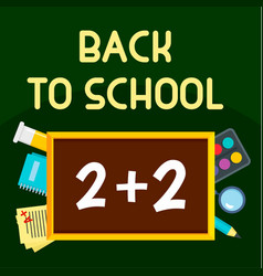 back to school time background flat style vector image