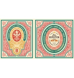 baroque cards set with ornaments and floral vector image