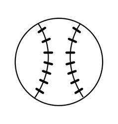 baseball sport ball equipment icon vector image