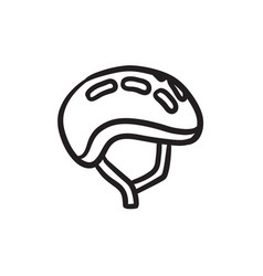 Bicycle helmet sketch icon vector