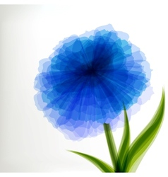 Blue transparent flower vector image