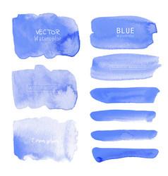 Blue watercolor background pastel watercolor vector