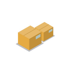 boxes set production icons vector image