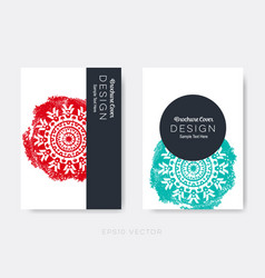 brochure cover design oriental mandala vector image