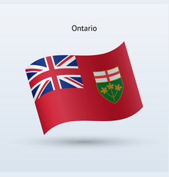 Canadian province ontario flag waving form vector