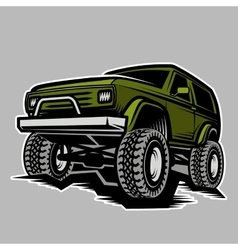 car off-road 4x4 suv trophy truck vector image