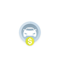 Car rent payment icon vector