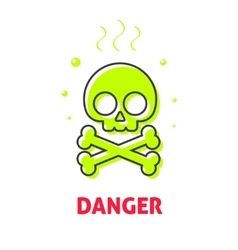 Chemical hazard caution sign waste danger safety vector