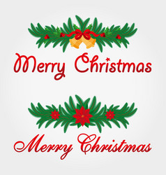 christmas decoration merry vector image