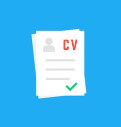 curriculum vitae like cv icon vector image