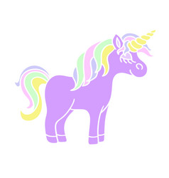 cute unicorn icon on the white background vector image