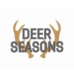 Deer antler logo vector