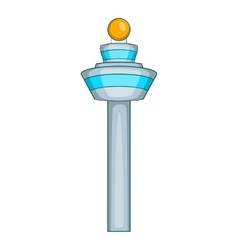 Dispatch tower icon cartoon style vector
