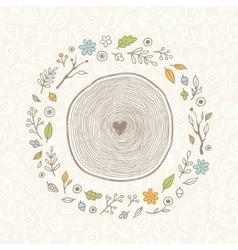 drawn vintage forest frame vector image