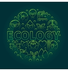 Ecology green symbol vector