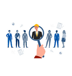 employee search and hire - cartoon people standing vector image
