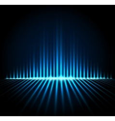 Equalizer on abstract technology background vector image