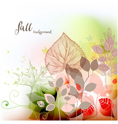 fall seasonal background autumn leaves vector image