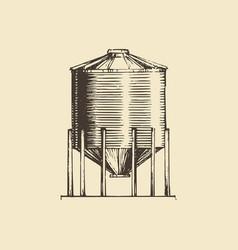 Farm hopper drawn sketch vector