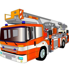 Fire engine lader vector