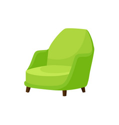 Flat icon of bright green armchair with vector