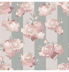 Floral seamless pattern Background with roses vector image