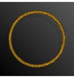 Frame Gold Sequins Circle Glitter sparkle vector