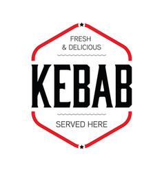 Fresh kebab stamp sign vintage vector