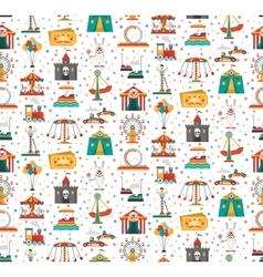 Funfair Fair Amusement Park Seamless Pattern vector