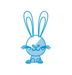 Funny easter rabbit decoration celebration vector