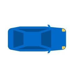 Generic blue car top view vehicle flat automobile vector