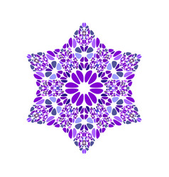 Geometrical abstract floral mosaic ornament star vector