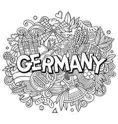 germany hand drawn cartoon doodles vector image